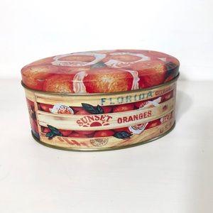 🔥4/$20🔥Little Oval Florida Oranges 🍊 Decor Tin